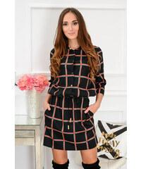 La Perla Čierne kockované šaty Debbie CO-40413 41bc7c3d0b0