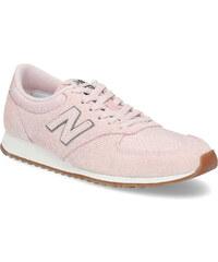New Balance Ružové dámske tenisky z brúsenej kože 14e33bd68a7
