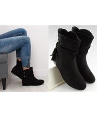 9590d7f3406 BELER Dámské kotníkové boty Ondria černé
