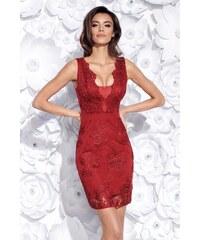 3e23d5bf914 BICOTONE Pouzdrové šaty Tiffany bordo