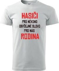 67af8b8a0a0 Lemurák s.r.o. Pánská trička Hasiči - rodina