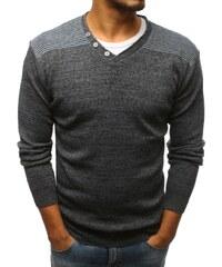 Dstreet Antracitový svetr s knoflíky 9624161dd7