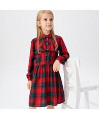 Reserved - Kockované šaty - Červená 38f34355bf4
