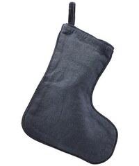 House Doctor Vánoční ponožka tmavě modrá d00be5b314