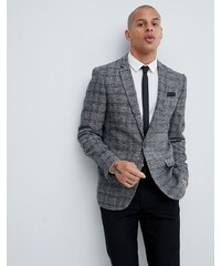 1890f8763746 River Island skinny fit blazer in grey check - Grey