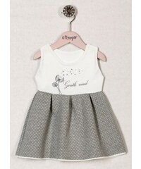 8257a3a28514 Teplé šaty sivé   smotanové Nicol - kolekcia Púpava