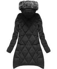 Amando Čierna zimná bunda s predĺženými bokmi (6788) d5c35220ef5