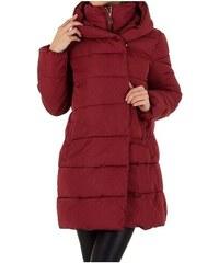 Červené dámské kabáty s kapucí  cce1d7310a