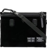 Damir Doma DAMIR DOMA X MASTER-PIECE Anton velvet shoulder bag - Black d0f1822f13