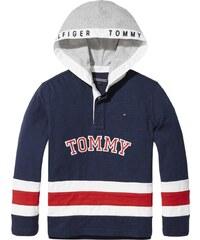 77f943e8e28 TOMMY HILFIGER Mikina noční modrá   šedá   červená   bílá