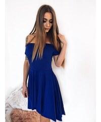 ZAZZA Asymetrické koktejlové šaty v modrej c948d4abde3