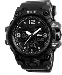6bf27231a ️Sportovní hodinky GTUP 1050 černé s duálním časem + shock resist