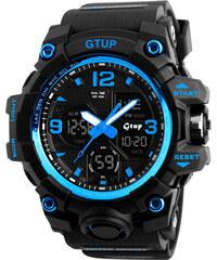 3347c5387 Sportovní hodinky GTUP 1050 Shock resist modré s duálním časem