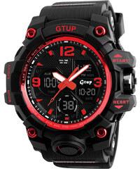 Sportovní hodinky GTUP 1050 shock resist červené s duálním časem 7a90696584