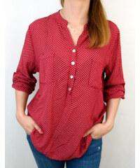 Made in Italy Dámská košile červená s puntíky 22652893c6