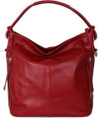 ITALSKÉ Italské červené dámské kabelky z kůže Salvare de8a548b3ba