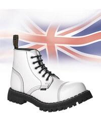 c299ffb60e5 STEEL Boots Boty Steel 6-dírkové - bílé