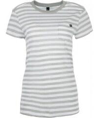 a7e5358b3d FOX dámské tričko Striped Out Crew L smetanová