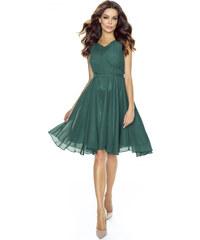 8e59b756e6a Kartes Elegantní šifónové šaty - zelené