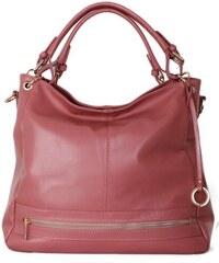 ITALSKÉ Luxusní dámské růžové kabelky z kůže Orabela 0ddc7ce4918