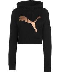 mikina Puma Crop Hoodie dámská Black RoseGold ff92c8014e