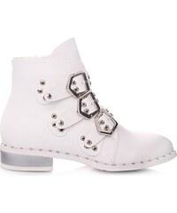 J.Botycky Bílé podzimní boty 7-X7185B.WH dc401ae055
