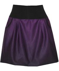 Radka Kudrnová Fialovo černá balonová sukně be89252c25