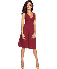 e4a6b49a132 Kartes Elegantní šifónové šaty se sklady - bordó