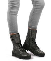 e4f16fe74462 Palladium Tmavostrieborné kožené topánky Pallabosse Peloton