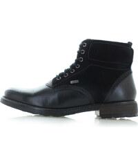 Klondike Pánske čierne kožené členkové topánky Colby 4d23579a4ba