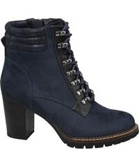 Modré Dámske čižmy a členkové topánky  c583f691048