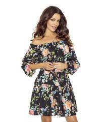 f4da9995096 Kartes Úchvatné květinové šaty - černé