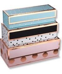 cb3120b2c Sada 3 farebných úložných boxov Tri-Coastal Design Dots