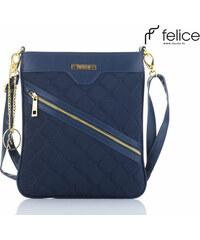 Tmavo modrá kabelka FELICE (A07 BLUE) 90eb76b6ff2