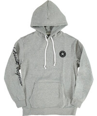 Converse Pánská šedá mikina Chuck Taylor Graphic Pullover Hoodie 1c099e434f5
