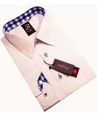 Bílá pánská košile dlouhý rukáv vypasovaný střih Brighton 110028 6c335f6902
