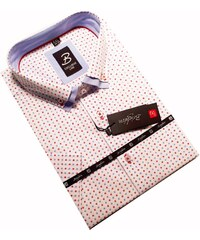 Bílá pánská košile krátký rukáv rovný střih Brighton 110054 2d6d455469