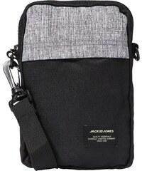 JACK   JONES Taška přes rameno  JACSTUHR SMALL SLINGBAG  šedý melír   černá 884f85ab1ad