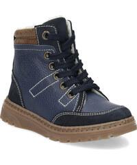 Mini B Dětské kožené zimní boty modré 50bc2270be