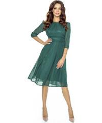 93497b48131 Kartes Koktejlové šifónové šaty - zelené
