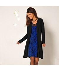 Blancheporte Šaty s potiskem a krajkou modrá černá a2757bf4630