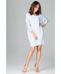 dbcf2dd6e894 Úpletové šaty Lenitif K467 modré