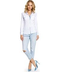 MOE košile dámská 067 dvojitý límeček bílá - Glami.cz 67b9835c87