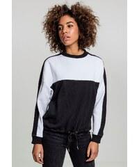 Dámska mikina bez kapucne Urban Classics Ladies Oversize 2-Tone Stripe Crew  black white 7dc82e28997