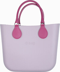 O bag pudrová kabelka MINI Smoke Pink s krátkými koženkovými držadly 60a19bc1ba6
