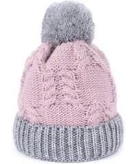 Artofpolo Dámská zimní čepice Polární den Růžová 820bfbdd47
