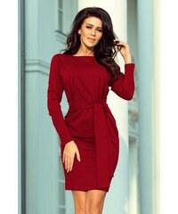 4e7e9ee00327 Numoco Dámske puzdrové šaty 209-3 - bordové