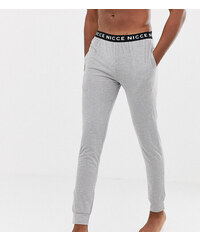 12e1e25ee1 Nicce lounge cuffed joggers in grey with waistband - Grey