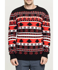 6f0164e99d04 Urban Classics Snowflake Christmas Tree Sweater black fire red white
