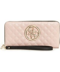 GUESS peňaženka Ryann Quilted Zip-Around Wallet nude multi 1d9c983a481